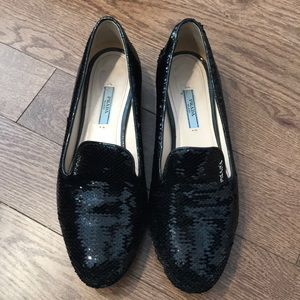 Black Prada Sequin Loafer